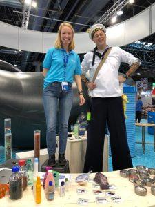 Pia Loeffke, WaterRanger und Studentin der Hochschule Magdeburg, in Aktion.